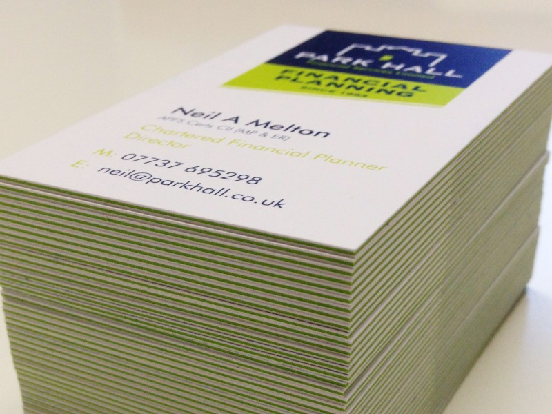 Design and production of Park Hall business cards