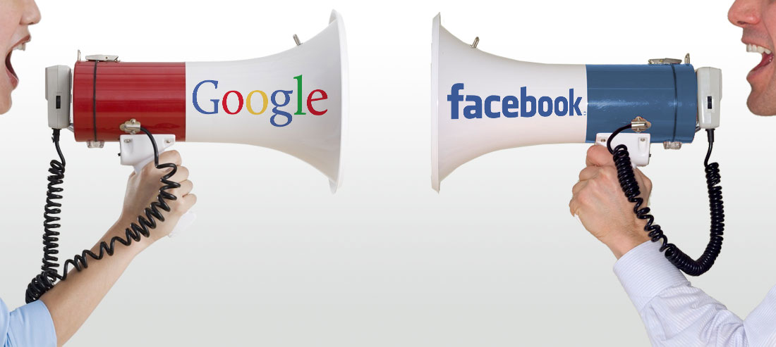 adwords vs facebook graphic
