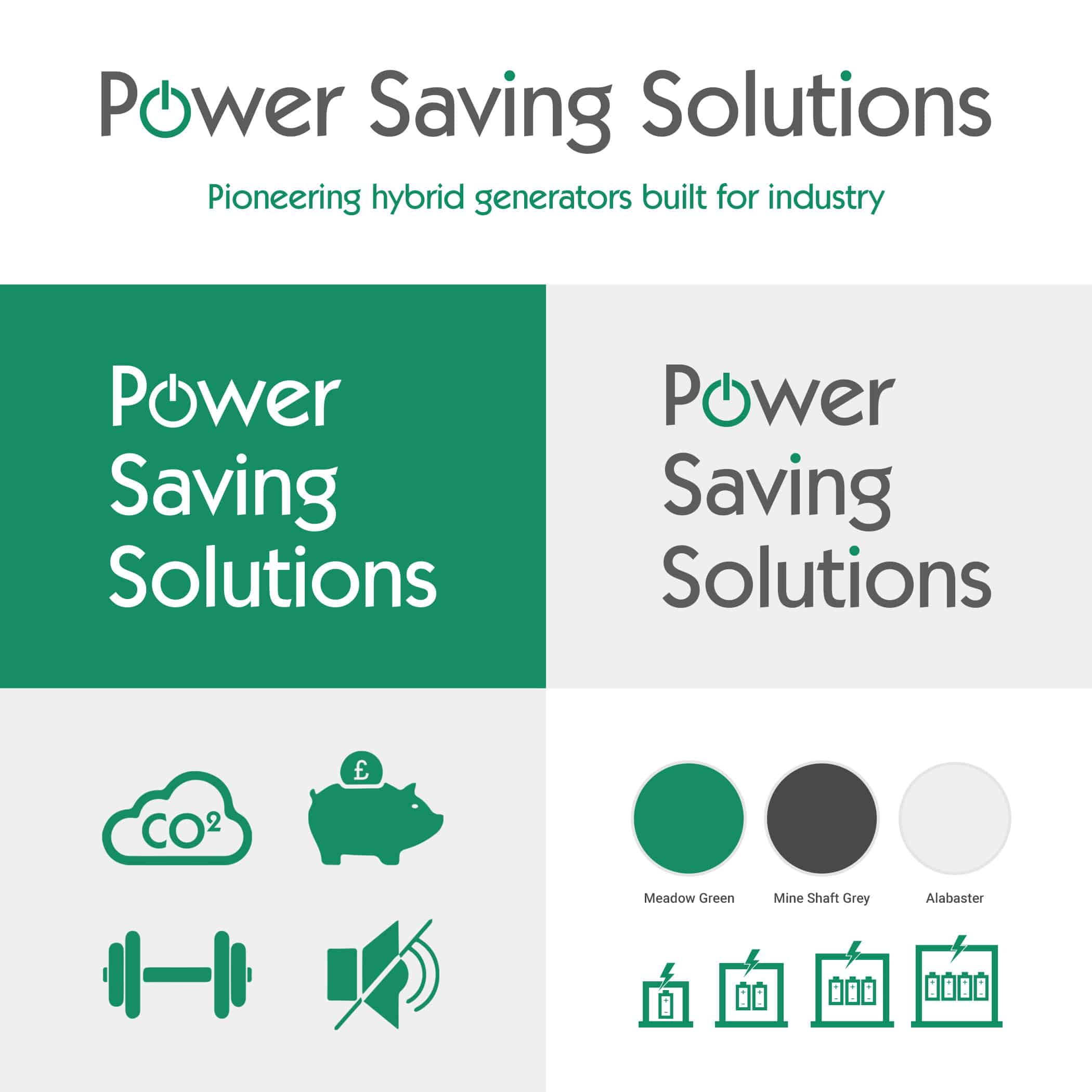 Power Saving Solutions branding and logo