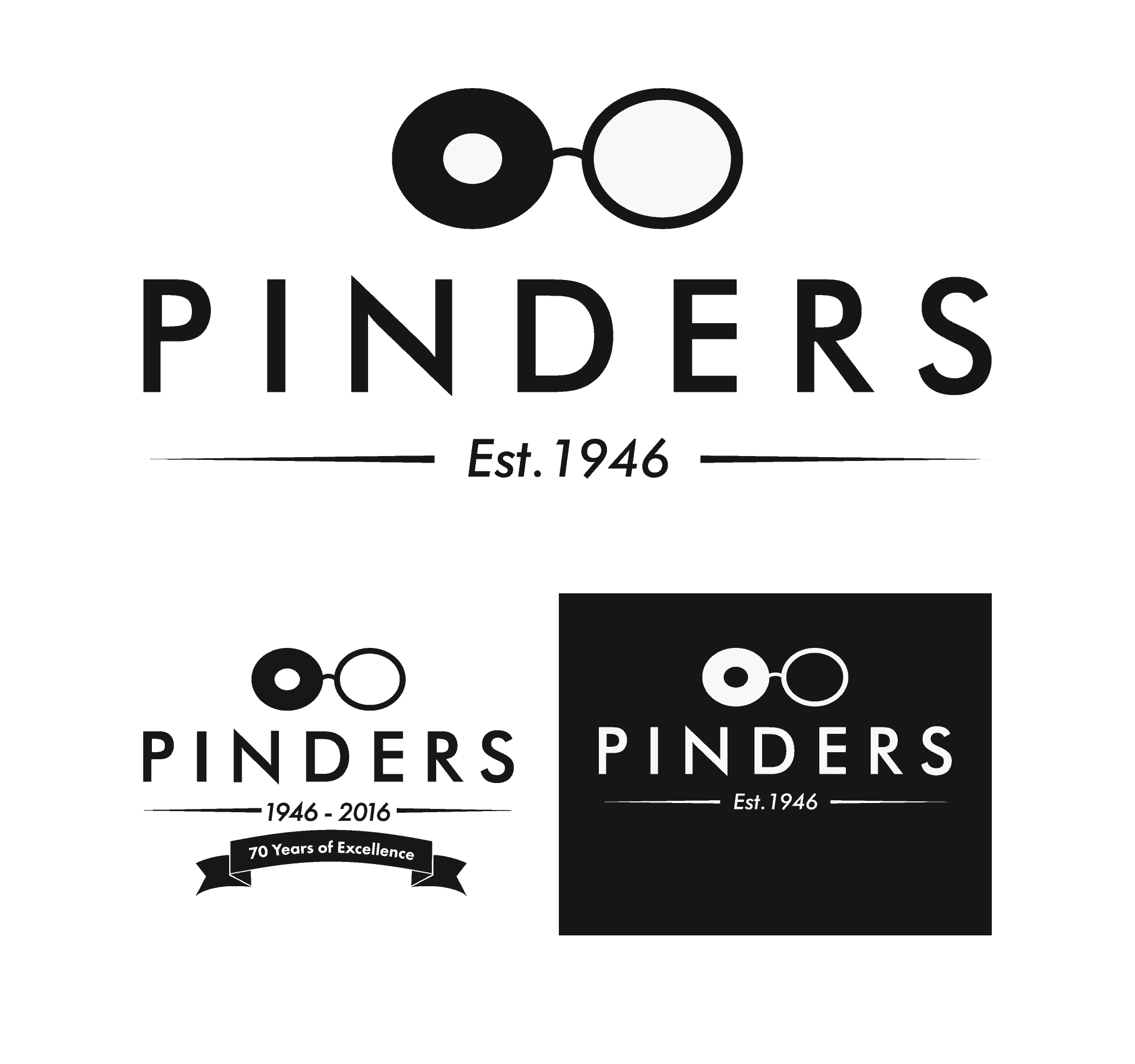 Pinders logo and branding